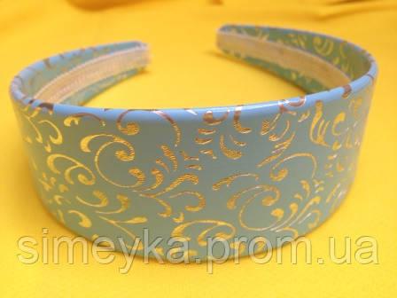 Обруч широкий, основа для украинского венка, имитация кожи, ширина 4,5 см