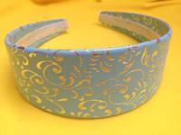 Обруч широкий, основа для украинского венка, имитация кожи, ширина 4,5 см, фото 1