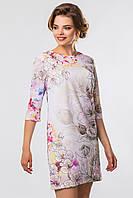 Модное женское шифоновое платье до колен с принтом Акварель