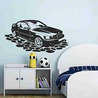 Виниловая интерьерная наклейка для детской комнаты Машина