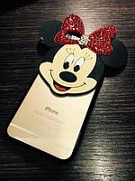 Силиконовый чехол Mickey TPU Case со стразами для iPhone 6Plus/6SPlus
