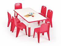 Столик Samba prostokat czerwony