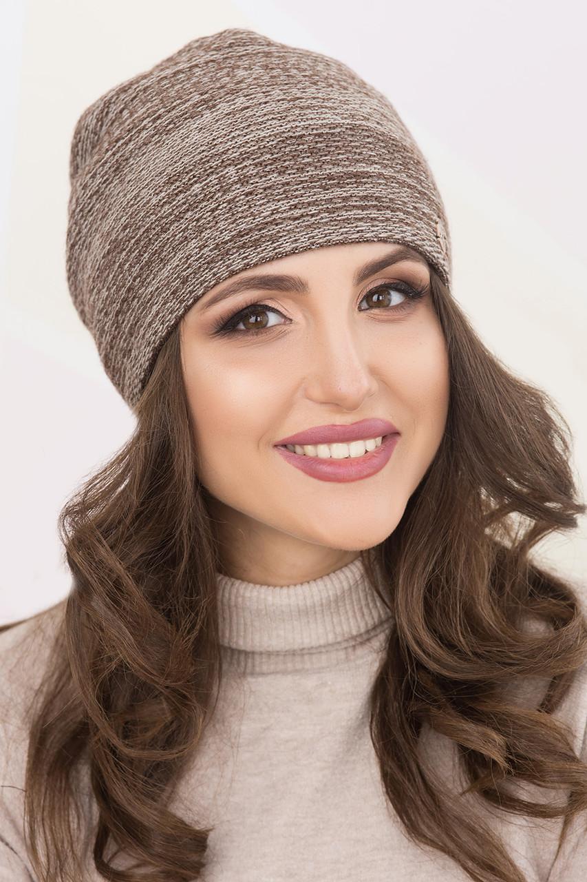 Женская шапка меланж «Лейла»
