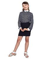 Блузка детская для девочек М-1069 рост 134-170 горох, фото 1