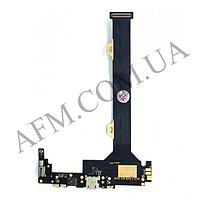 Шлейф (Flat cable) Lenovo K920 Vibe Z2 Pro,   с разъемом зарядки ,  микрофоном и компонентами