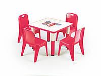 Столик Samba kwadrat czerwony