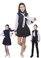 Блузка детская для девочек креп-шифон М-1070 рост 122-170