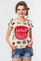 Женская модная летняя футболка Sweet Summer