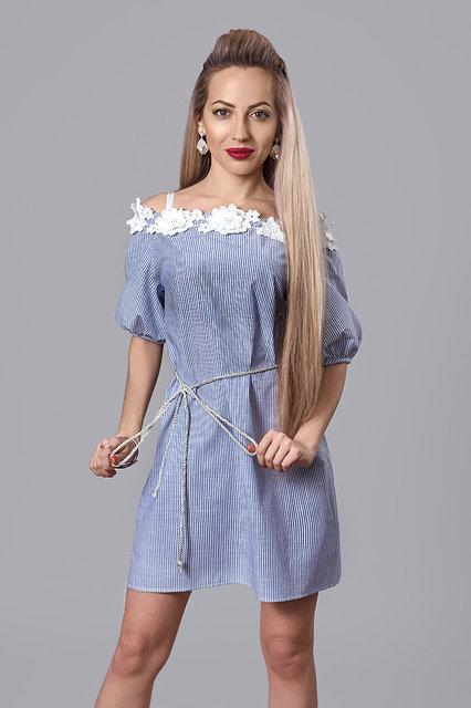 d2bd1fb71f86805 Льняное платье свободного фасона в полоску размер:40,44,46,48 ...