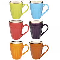 Чашка 360мл 6 цветов Микс 4172