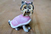 Декоративная фигурка Йорк Йоркширский терьер Собака в накидке 12см