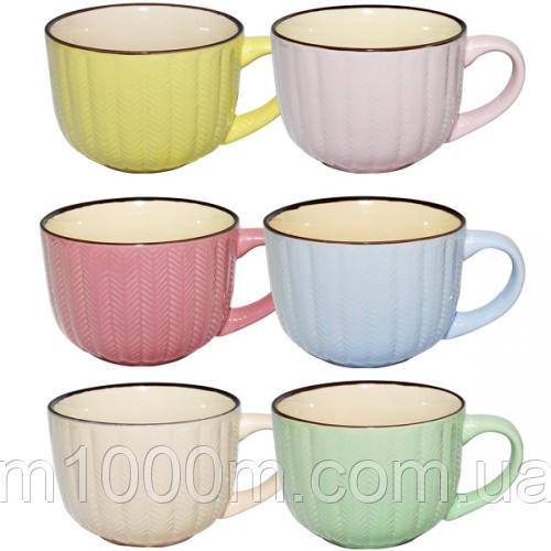 Чашка 530 мл 6 цветов Микс 4169