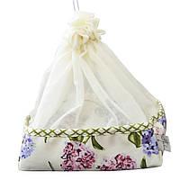 Хлебница с чехлом Садовые цветы