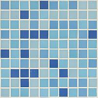 Голубая мозаика для отделки бассейна глянцевая D-Core DC-03