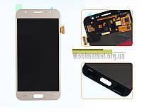 Дисплейний модуль (дисплей + сенсор) Samsung j5/j500 Amoled original золотий