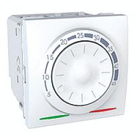 Термостат кондиционирование и отопление 8А +5...30°С белый Unica Schneider Electric MGU3.501.18