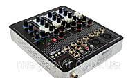 Микшерный пульт аудио микшер Mixer BT-4000 4ch + BT, фото 1