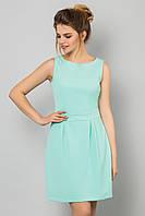 Элегантное базовое женское платье мини без рукавов Мятное