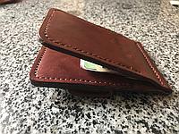 Кожаный мужской кошелек ручной работы Hordi