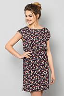 Легкое летнее женское платье с принтом Мелкие цветочки