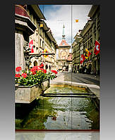 "Ширма деревянная ""Старый город. Берн. Швейцария"""