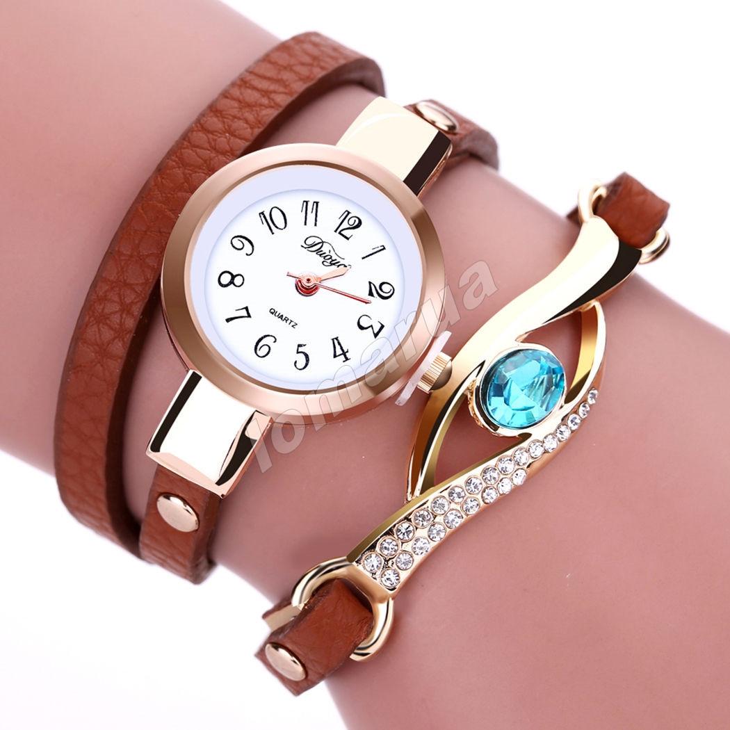Яркие женские часы-браслет Brown