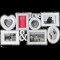 Мультирамка Любовь на 7 фотографий
