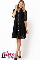 Женское платье из гипюра №10-742