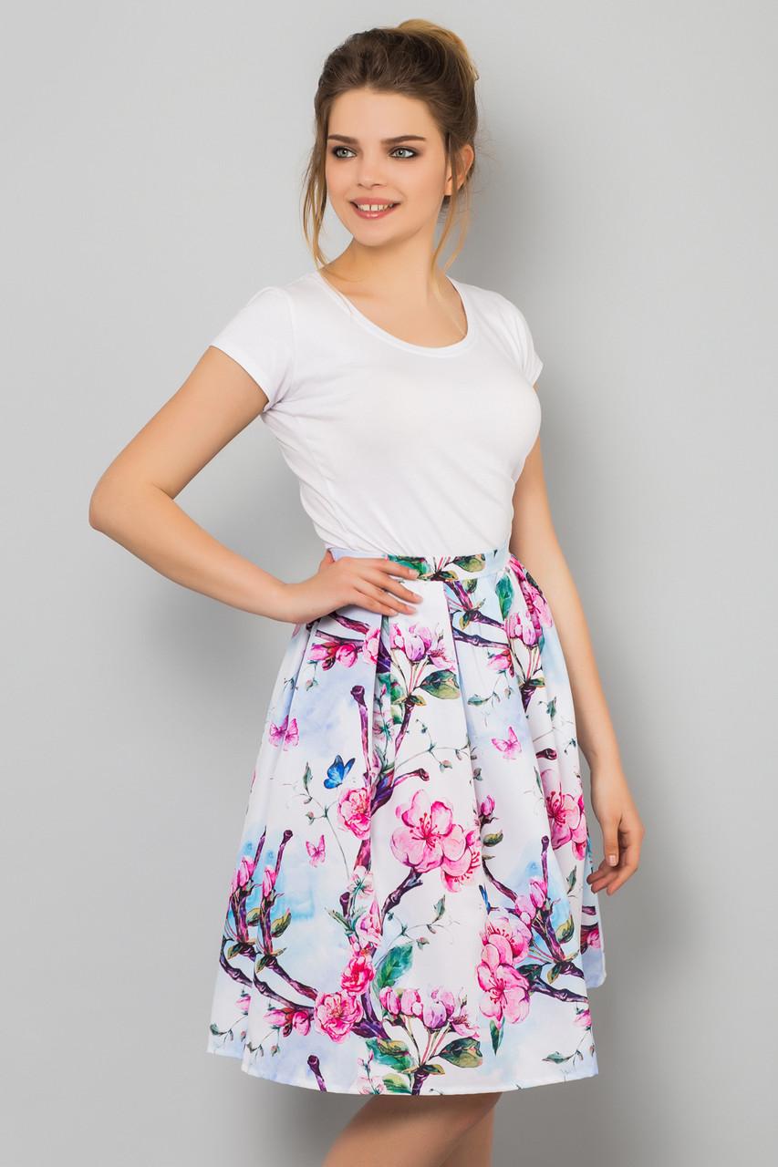 Летняя женская юбка белая