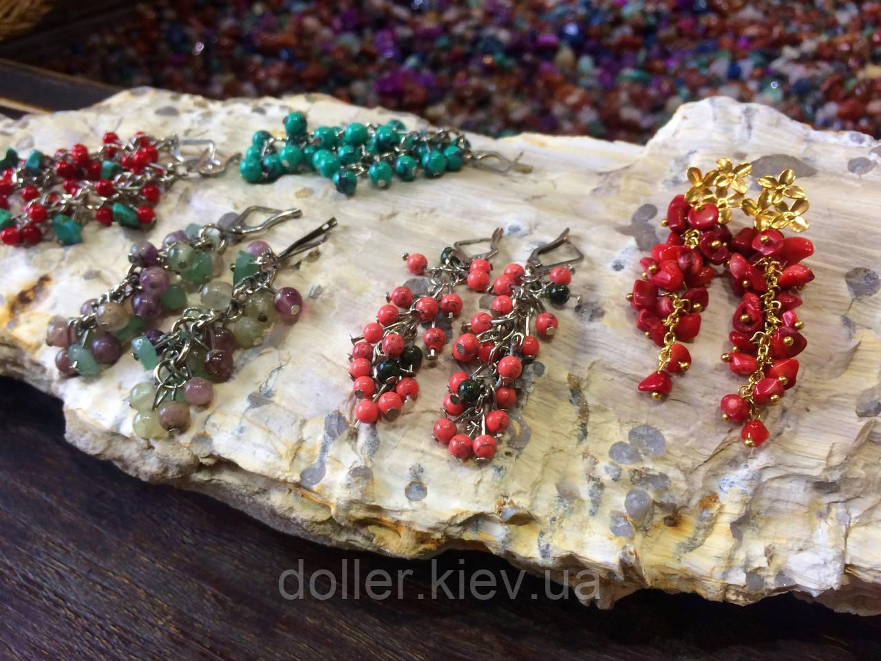 Серьги из самоцветов, в ассортименте. - Остров сокровищ и Doller - магазин уникальных подарков в Киеве