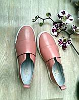 Слипоны мокасины женские из гладкой кожи розовый модный дизайн, осенняя женская обувь из кожи