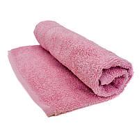 Полотенце махровое 40х70см розовое