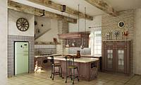 Кухня RODA НИЦЦА: окрашенный фасад МДФ с 3-D узором и патинированный вручную