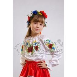 """Заготовка для вишивання дитячої блузи-вишиванки """"Польові квіти"""" БД-005"""