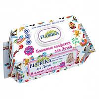 """Влажные салфетки для детей """"Florika"""" 120 штук с клапаном"""