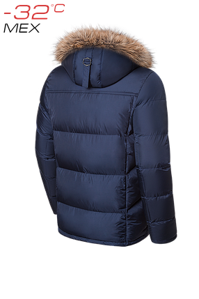 Мужская темно-синяя зимняя куртка на меху Braggart Dress Code арт. 1445, фото 2