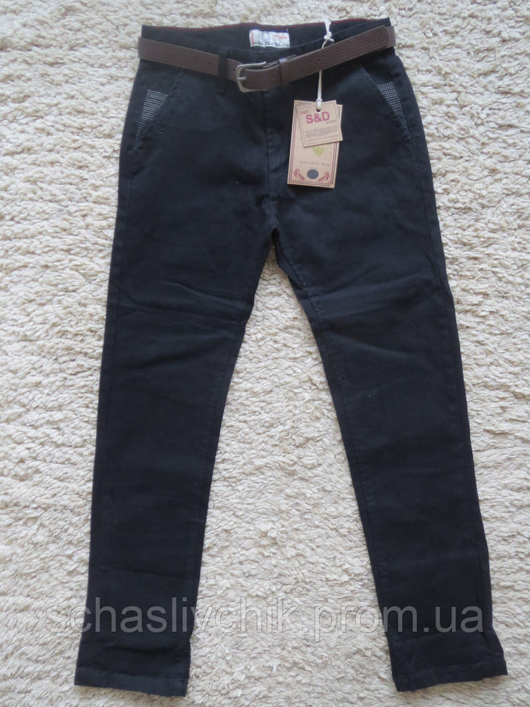 Стильные школьные котоновые брюки для мальчиков ,6-16 размер, Производитель Венгрия