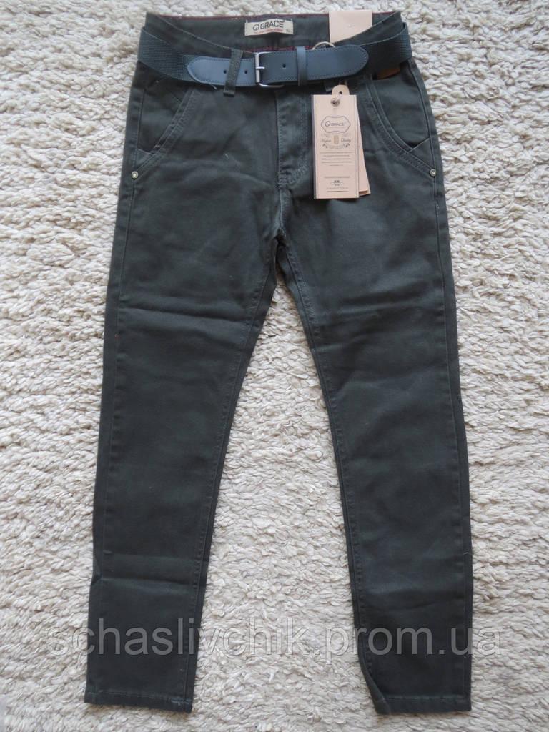 Стильные школьные котоновые брюки для мальчиков оптом,134-164 размер, Производитель Grace Венгрия