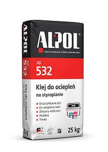 Клей армуючий для пінополістирола ALPOL 532 25кг