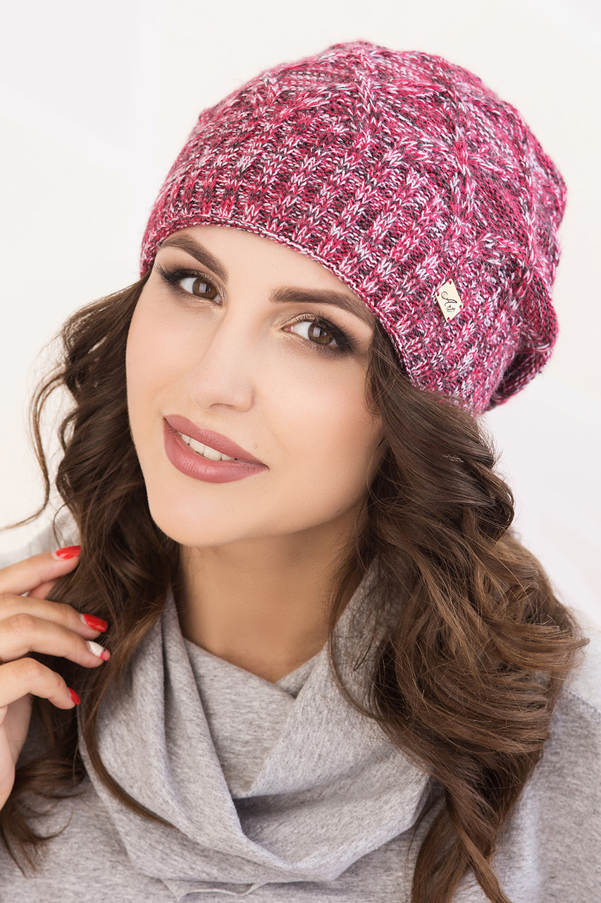 Женская шапка меланж «Николь»