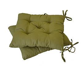 Подушка на стул 40х40см Оливковая ТМ Прованс
