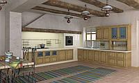 Кухня RODA ТУЛУЗА: изготовлена из массива дуба с использованием эффекта выбеливания