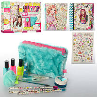 Набор для творчества Stationery Set 1263: 10в1, сумочка + блокнот + карандаши + наклейки + трафарет