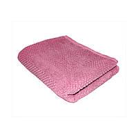 Полотенце махровое жаккардовое 30*70 розовое