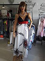 Платье-сарафан длинный вечерний нарядный дизайнерский