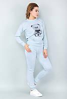 Женский спортивный костюм для дома с мишкой мятный