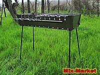 Раскладной мангал - чемодан на 12 шампуров + комплект шампуров