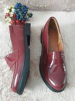 Женские Кожаные туфли низкий ход