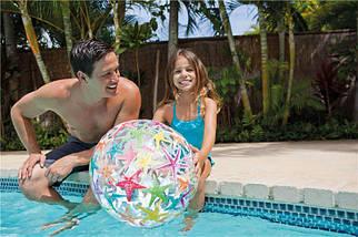 Надувной мяч Intex с красочной расцветкой, фото 3