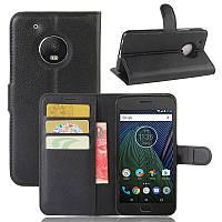 Чехол Motorola Moto G5 Plus / XT1685 книжка PU-Кожа черный, фото 1